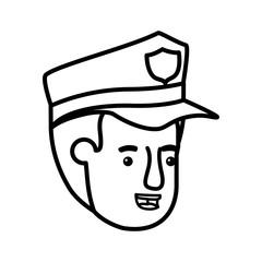head of man police avatar character