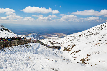 The winter snow of Changbai mountain of China.