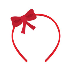 Isolated headband icon with a ribbon. Vector illustration design