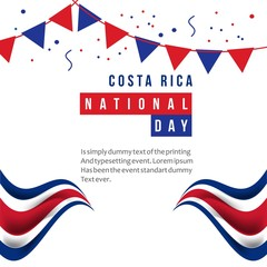 Costa Rica National Day Vector Template Design Illustration