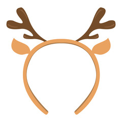 Isolated headband icon with moose horns. Vector illustration design