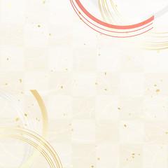市松模様 和紙風テクスチャ 水引