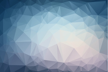 Abstract Light Blue polygonal illustration, which consist of triangles. Geometric background in Origami style with gradient. Triangular design for your business.
