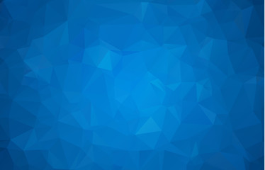 Abstract multicolor dark blue geometric rumpled triangular low poly style gradient illustration graphic background. Vector polygonal design for your business.