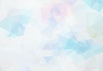 Abstract Blue White Light Polygonal Mosaic Background, Vector illustration, Business Design Templates