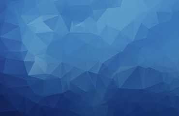 Abstract Blue polygonal illustration, which consist of triangles. Geometric background in Origami style with gradient. Triangular design for your business.