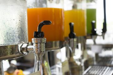 orange juice at buffet bar