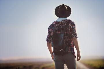 walking far away