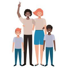 beautiful family avatar character