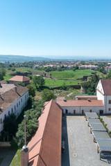Alba Iulia aerial view of the Citadel Alba-Carolina in Alba Iulia, Romania