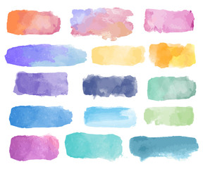 Colorful watercolor patch background vector