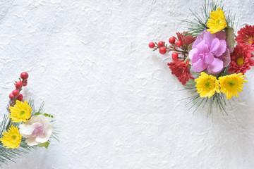 花束 和紙背景