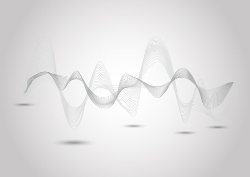 Abstract dynamic line on gray background