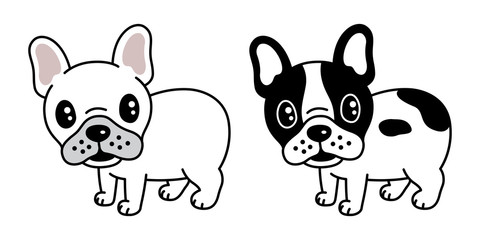 dog vector french bulldog icon cartoon character pug logo illustration