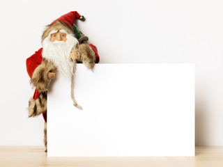 Santa Claus text space background