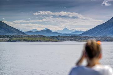 Fjord Landschaft zwischen Trondheim und Kristiansund