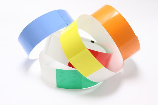 Colorful wristband for industries and business