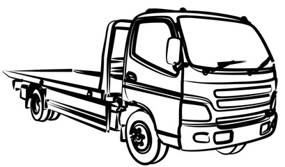 Sketch large tow truck.