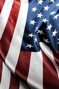 Beautifully waving star and striped American flag