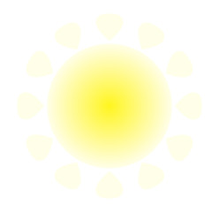 Sun icon. Trendy vector summer symbol for website design, web button, mobile app. Cartoon flat stile. Isolated on white background.