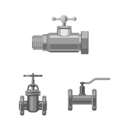 Vector illustration of pipe and tube symbol. Collection of pipe and pipeline stock symbol for web.