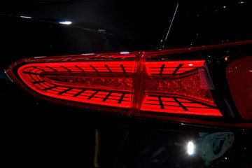 Rear stop LED light of new car