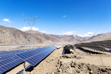 solar energy panels in power station