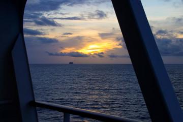 Cruise, Sunsrise, Cruise Ship, Caribbean Sea