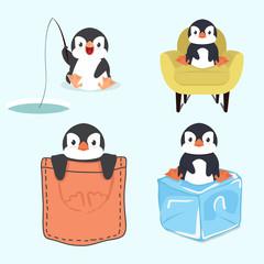 Cute little  penguin set
