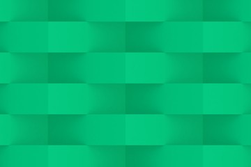 Green Geometric Abstract Background. 3D Render Background