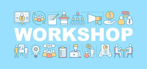 Business workshop word concepts banner