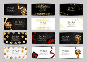 Big Collection Set of Luxury Members, Gift Card Template for your Business Vector Illustration