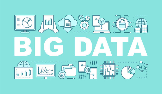 Big data word concepts banner