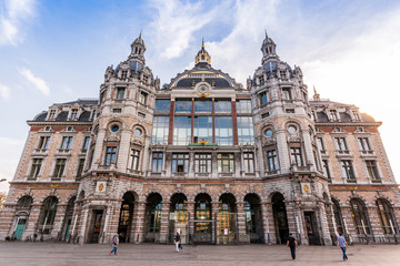 Foto op Canvas Antwerpen Antwerp Train Station
