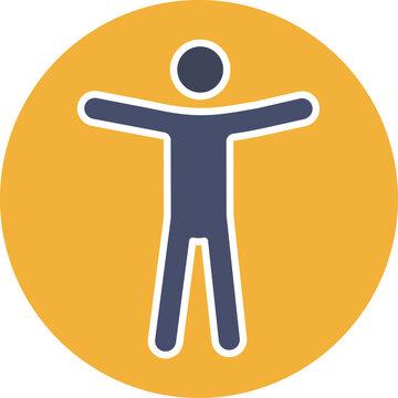 Web accessibility glyph color icon