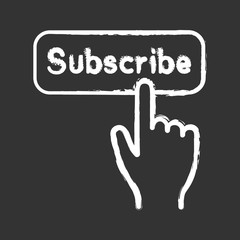 Subscribe button click chalk icon
