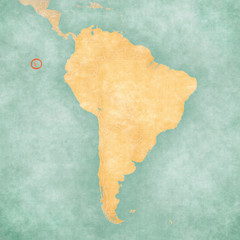 Map of South America - Galapagos Islands