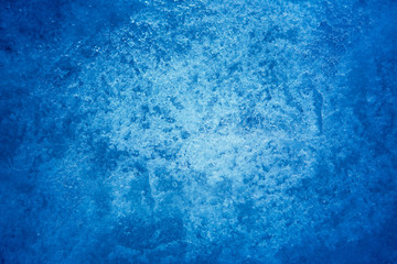 Beautiful Abstract blue Nature Winter frost background