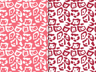 seamless abstract pattern with leopard spots print