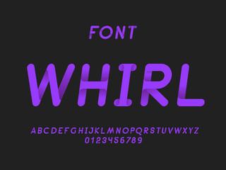6403950 Whirl Italic font. Vector alphabet