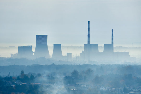 Smog - Air pollution in industrial areas