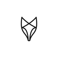 fox logo vector icon illustration