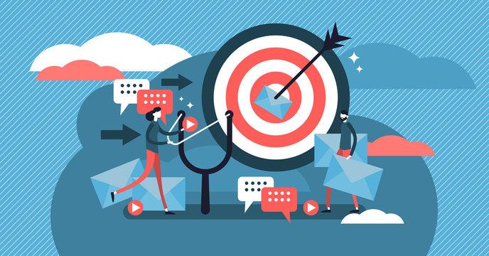 Direct marketing modern vector illustration concept