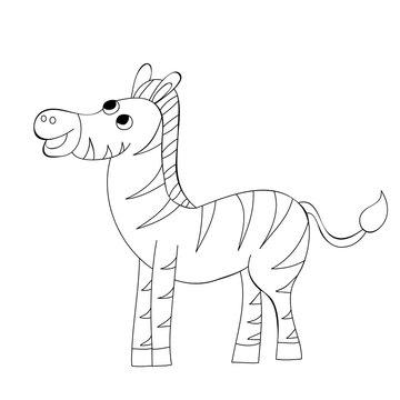book coloring zebra character