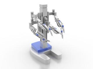 3d render robot medical