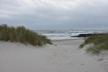 Canvas Prints North Sea Dänemark, Skagen, Nordjylland, Frederikshavn, Skagerrak, Gränen, Kattegat, Landspitze, Meer, Salzwasser, Sommer, Natur, Umwelt, Wolken, Wetter, Sturm, Herbst