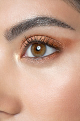 Close up eye of young woman