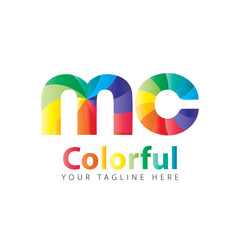 Initial Letter MC Rounded Colorful Design Logo
