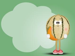 funny illustration of melon