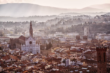Italy, Florence at sunrise